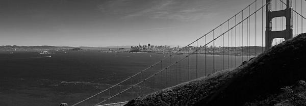 San Francisco Through The Golden Gate Bridge Print by Twenty Two North Photography