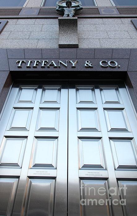 San Francisco Tiffany And Company Store Doors - 5d20562 Print by Wingsdomain Art and Photography