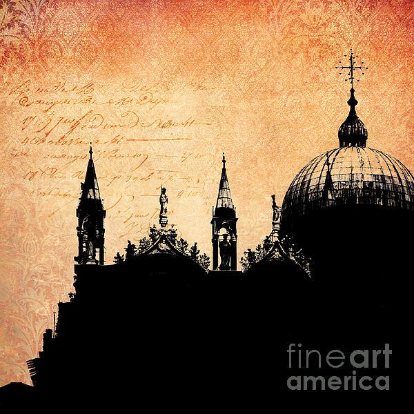 San Marco Basilica - Venice Print by Viaina