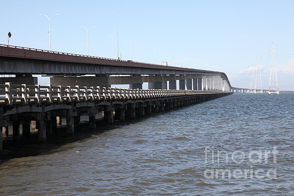 San Mateo Bridge In The California Bay Area 5d21892 Print by Wingsdomain Art and Photography