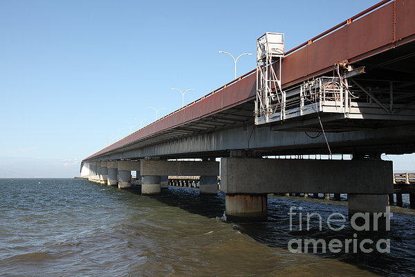 San Mateo Bridge In The California Bay Area 5d21900 Print by Wingsdomain Art and Photography