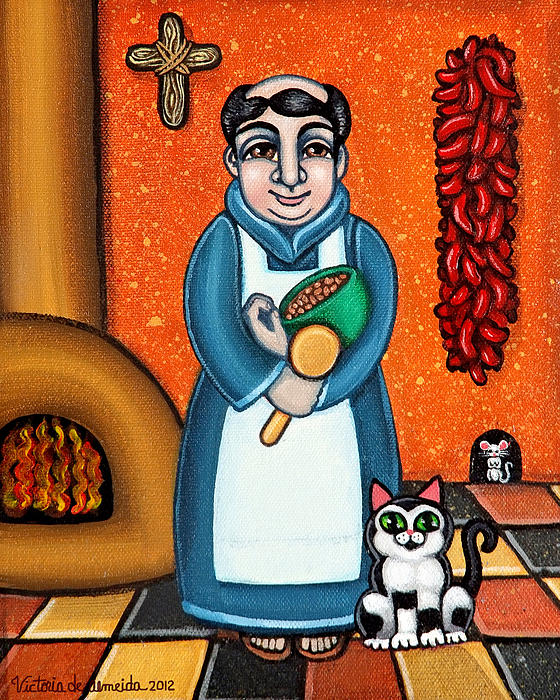 San Pascual And Felix Print by Victoria De Almeida