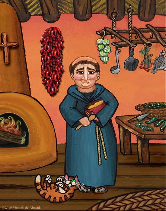 San Pascual And Vigas Print by Victoria De Almeida