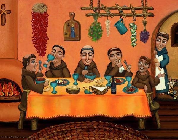San Pascuals Table Print by Victoria De Almeida