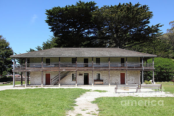 Sanchez Adobe Pacifica California 5d22644 Print by Wingsdomain Art and Photography