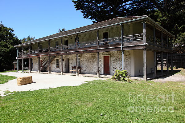 Sanchez Adobe Pacifica California 5d22647 Print by Wingsdomain Art and Photography