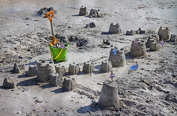 Sandcastle Squatters Print by Betsy A  Cutler