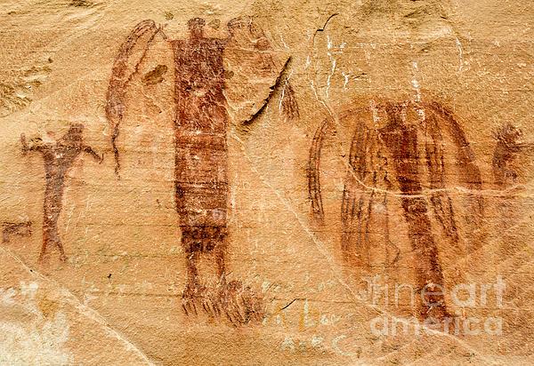 Gary Whitton - Sandstone Angels - Buckhorn Wash Pictograph Panel - Utah
