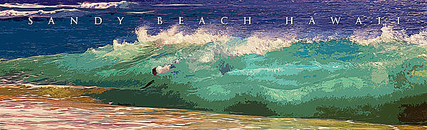 Sandy Beach Hawaii Print by Ron Regalado