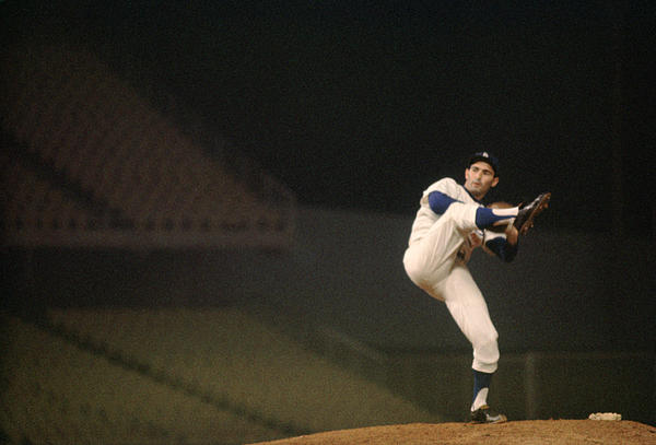 Sandy Koufax High Kick Print by Retro Images Archive