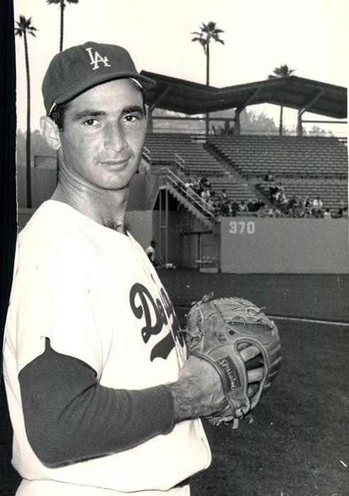 Sandy Koufax Photo Portrait Print by Gianfranco Weiss