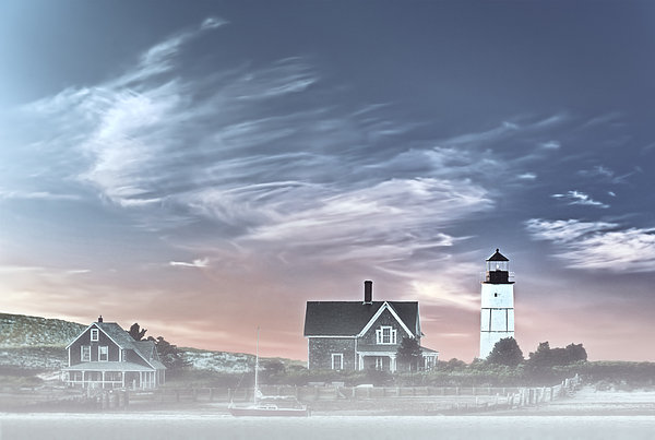 Sandy Neck Lighthouse Print by Susan Candelario