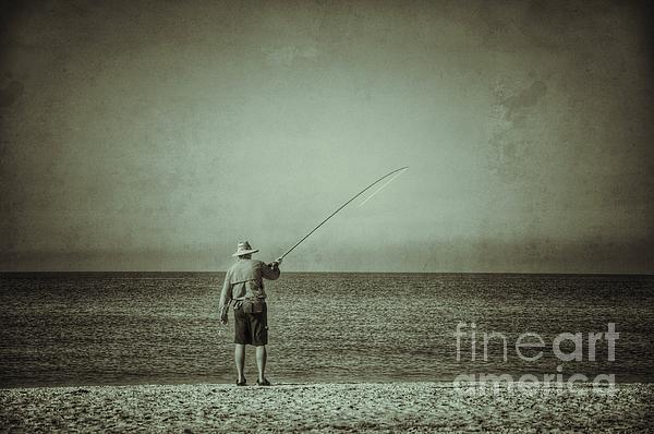 Sanibel Fisherman Print by Frank Williams