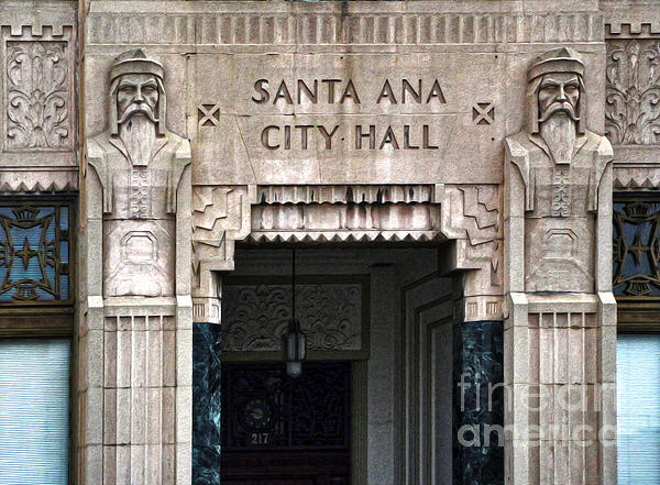Santa Ana City Hall - 01 Print by Gregory Dyer
