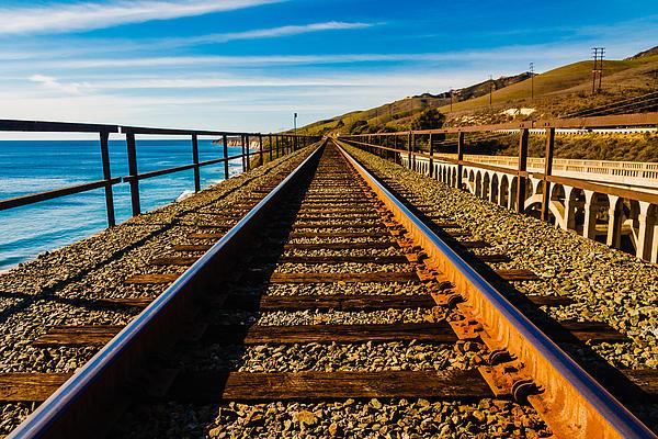Santa Barbara Train Tracks Print by Michael Walborn