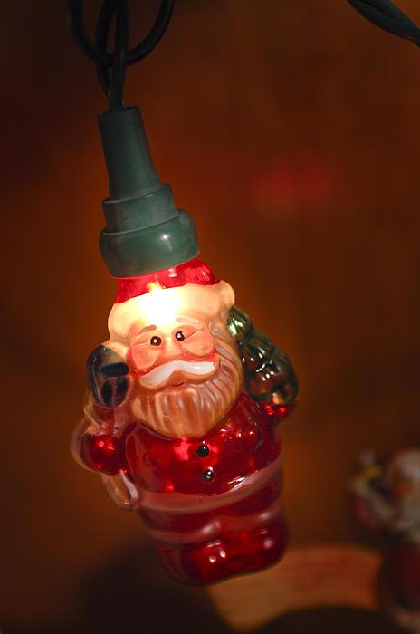 Santa Claus - Antique Ornament - 06 Print by Jill Reger