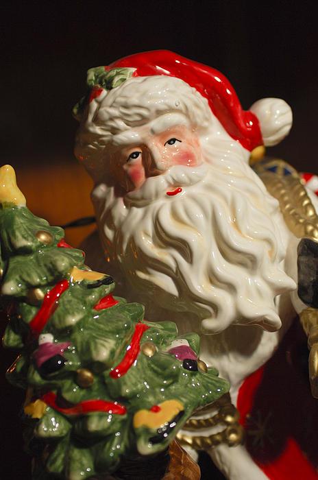 Santa Claus - Antique Ornament - 10 Print by Jill Reger