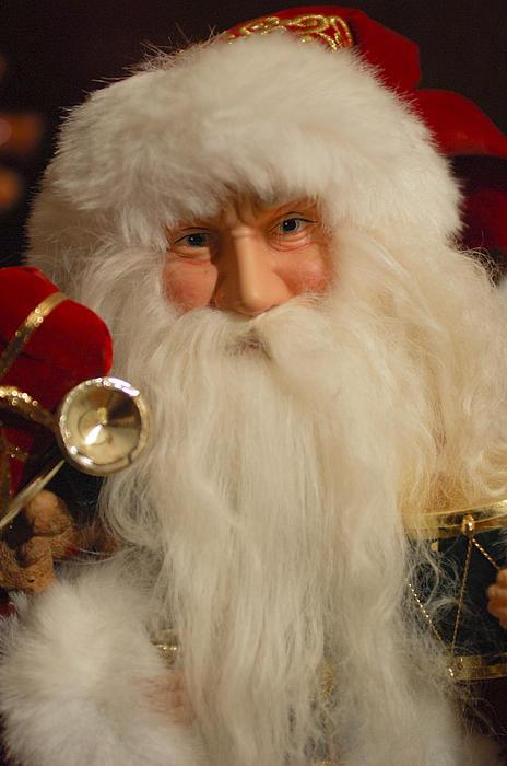 Santa Claus - Antique Ornament - 17 Print by Jill Reger