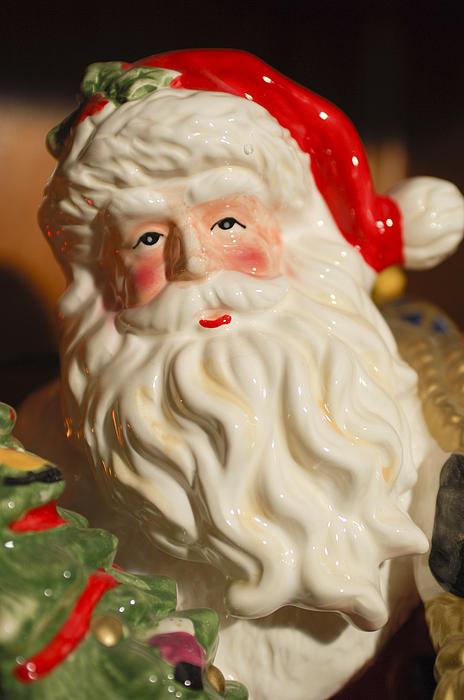 Santa Claus - Antique Ornament - 19 Print by Jill Reger