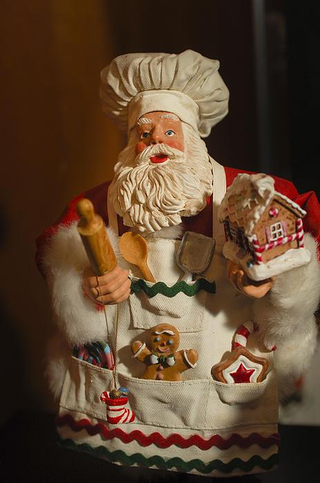 Santa Claus - Antique Ornament - 22 Print by Jill Reger