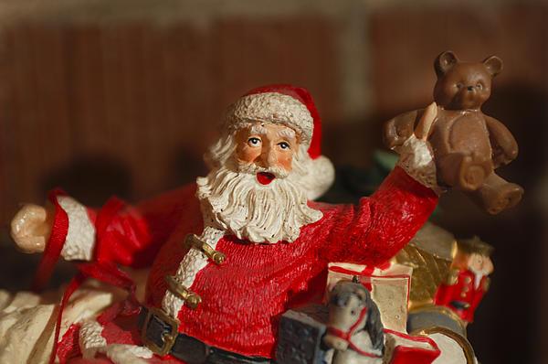 Santa Claus - Antique Ornament - 26 Print by Jill Reger