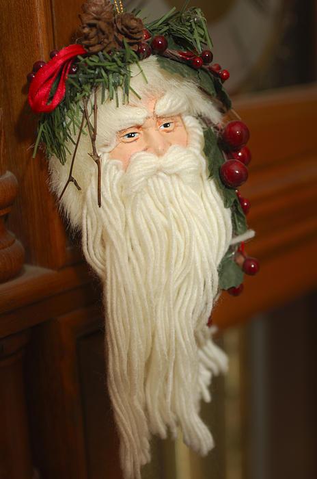 Santa Claus - Antique Ornament - 29 Print by Jill Reger