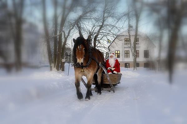 Santa Claus Print by Conny Sjostrom