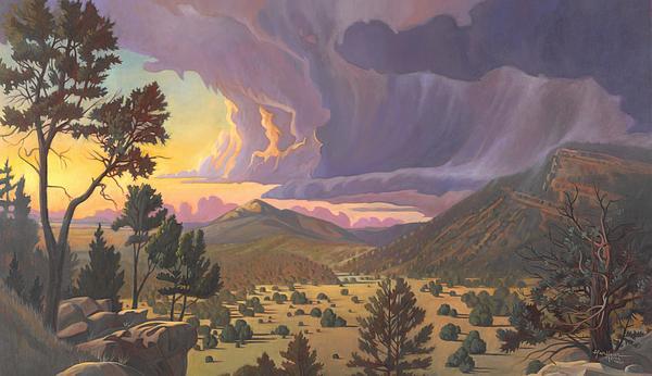 Santa Fe Baldy Print by Art James West