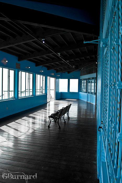 Santa Monica Pier Blue Room Print by Guinapora Graphics