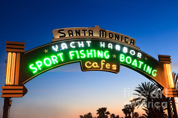 Paul Velgos - Santa Monica Pier Sign