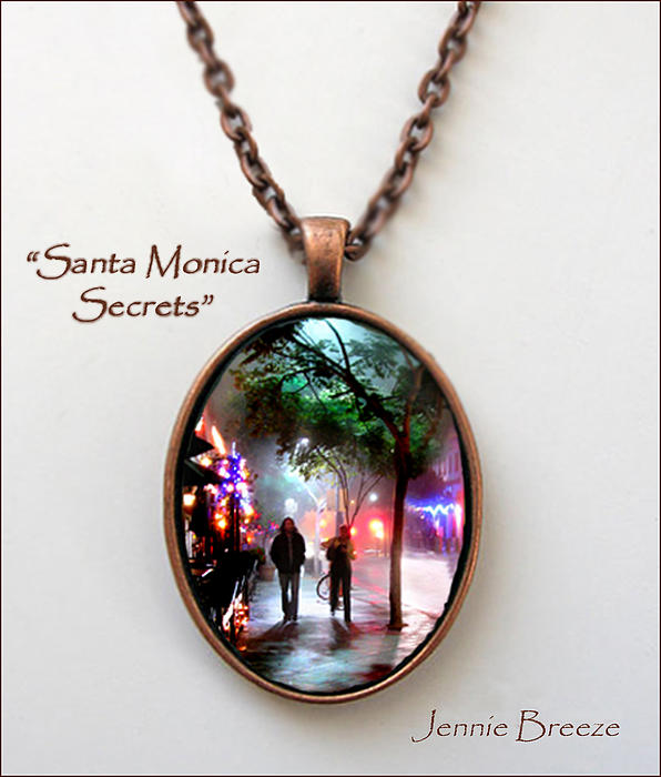 Santa Monica Secrets-custom Pendant Print by Jennie Breeze