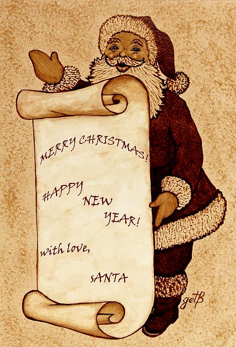 Santa Wishes Digital Art Print by Georgeta  Blanaru