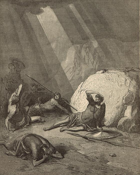Saul's Conversion Print by Antique Engravings