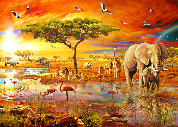 Savanna Pool Print by Adrian Chesterman