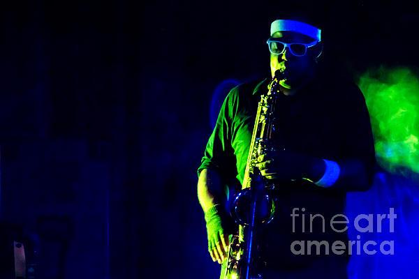 Saxophone Print by Jill Hyland
