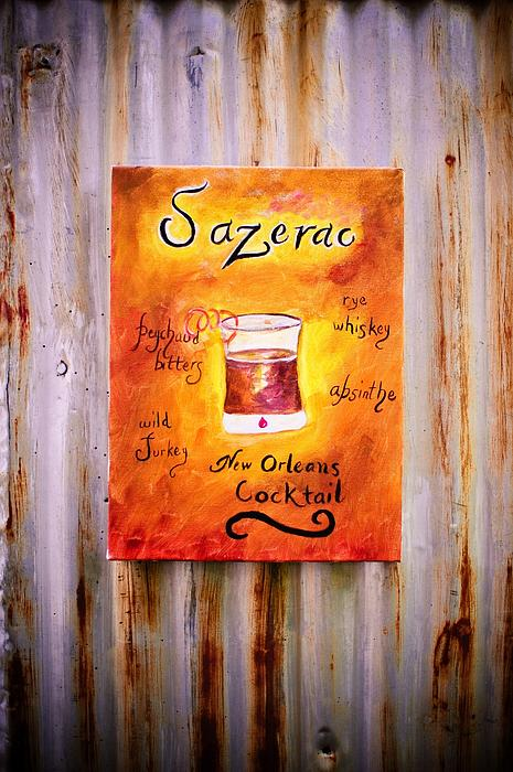 Sazerac On Rust Print by Marian Hebert