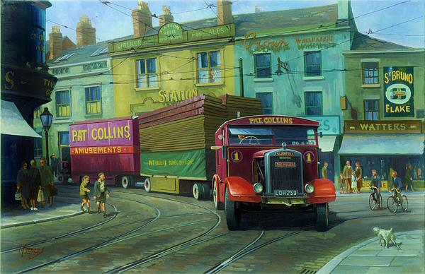 Scammell Showtrac Print by Mike  Jeffries