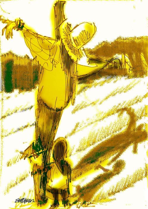 Scarecrow Babysitter Print by Seth Weaver
