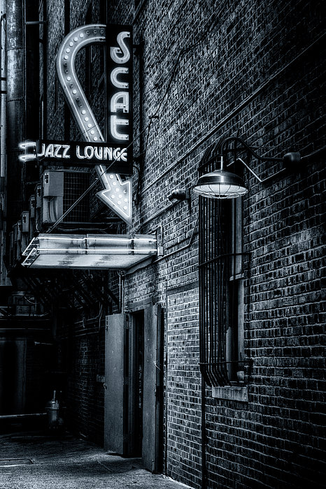 Joan Carroll - Scat Lounge in Cool Black and White