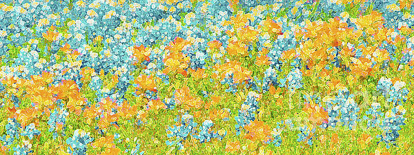 ARTography by Pamela Smale Williams - Scattered Impressions Bold Wildflowers