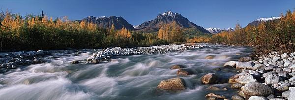 Scenic Of Granite Creek In Autumn Sc Print by Calvin Hall