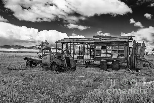 Schellbourne Station And Old Truck Print by Robert Bales