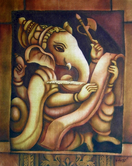 Scholar Ganesh Print by Vishwajyoti Mohrhoff