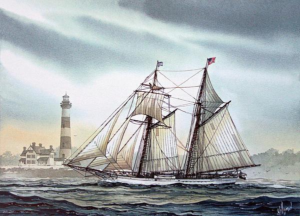 Schooner Light Print by James Williamson