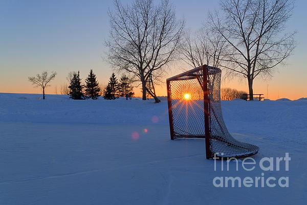 Scoring The Sunset Print by Darcy Michaelchuk