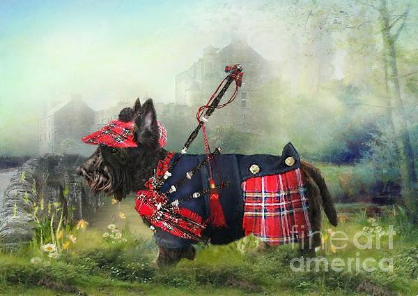 Scottie Of The Glen Print by Trudi Simmonds