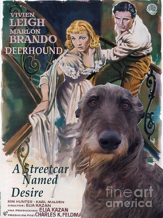 Scottish Deerhound Art - A Streetcar Named Desire Print by Sandra Sij