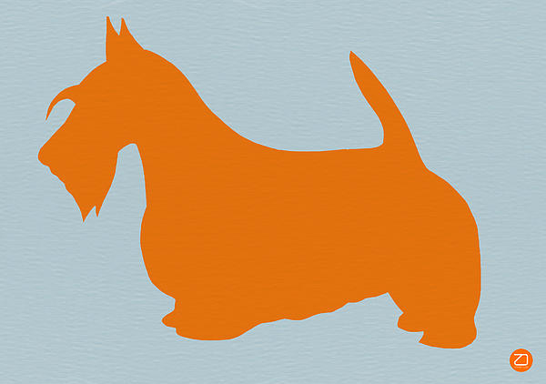 Scottish Terrier Orange Print by Naxart Studio