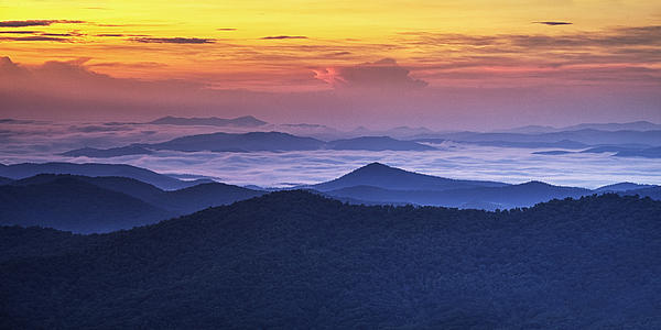 Sea Of Clouds At Sunrise Print by Andrew Soundarajan