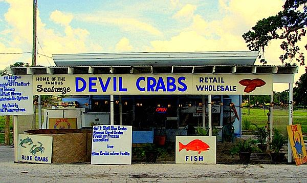Seabreeze Devil Crabs Print by Buzz Coe